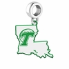 Tulane Green Wave Logo Dangle Charm