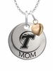 Tulane Green Wave MOM Necklace with Heart Charm