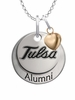 Tulsa Golden Hurricane Alumni Necklace with Heart Accent