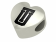 Tulsa Golden Hurricane Heart Shape Bead