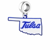Tulsa Golden Hurricane Logo Dangle Charm