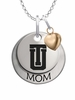 Tulsa Golden Hurricane MOM Necklace with Heart Charm