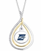 Two Tone CZ  and Enamel Necklace
