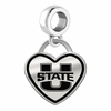 Utah State Aggies Border Heart Dangle Charm