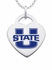 Utah State Aggies Color Logo Heart Charm
