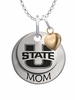 Utah State Aggies MOM Necklace with Heart Charm