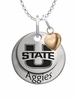 Utah State Aggies with Heart Accent