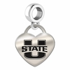 Utah State Engraved Heart Dangle Charm