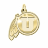 Utah Utes 14K Yellow Gold Natural Finish Cut Out Logo Charm