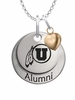Utah Utes Alumni Necklace with Heart Accent