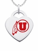 Utah Utes Color Logo Heart Charm