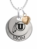 Utah Utes MOM Necklace with Heart Charm