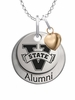 Valdosta State Blazers Alumni Necklace with Heart Accent