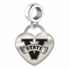 Valdosta State Engraved Heart Dangle Charm