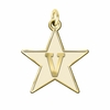 Vanderbilt Commodores 14K Yellow Gold Natural Finish Cut Out Logo Charm