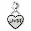 Vermont Catamounts Border Heart Dangle Charm