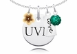 Vermont Catamounts Cluster Necklace