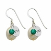 Vermont Catamounts Color and Freshwater Pearl Earrings