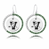 Vermont Catamounts Color CZ Circle Earrings
