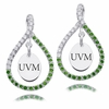 Vermont Catamounts Colored CZ Figure 8 Earrings