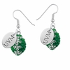 Vermont Catamounts Crystal Football Earrings