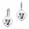 Vermont Catamounts CZ Cluster Heart Earrings
