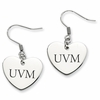 Vermont Catamounts Heart Earrings