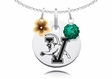 Vermont Catamounts Necklace with Flower Charm