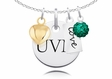 Vermont Catamounts Necklace With Heart, Color and Love