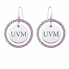 Vermont Catamounts Pink CZ Circle Earrings