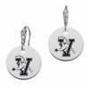 Vermont Catamounts Round CZ Cluster Earrings