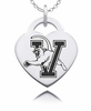 Vermont Catamounts Heart Charm