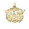Villanova Wildcats 14K Yellow Gold Natural Finish Cut Out Logo Charm