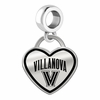 Villanova Wildcats Border Heart Dangle Charm