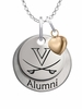Virginia Cavaliers Alumni Necklace with Heart Accent
