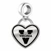 Virginia Cavaliers Border Heart Dangle Charm
