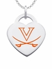 Virginia Cavaliers Color Logo Heart Charm