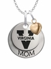 Virginia Cavaliers MOM Necklace with Heart Charm