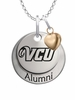 Virginia Commonwealth Rams Alumni Necklace with Heart Accent