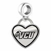 Virginia Commonwealth Rams Border Heart Dangle Charm