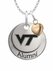 Virginia Tech Hokies Alumni Necklace with Heart Accent
