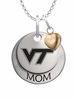 Virginia Tech Hokies MOM Necklace with Heart Charm