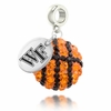 Wake Forest Crystal Drop Charm