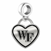 Wake Forest Demon Deacons Border Heart Dangle Charm
