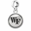 Wake Forest Demon Deacons Border Round Dangle Charm
