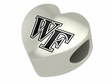 Wake Forest Demon Deacons Heart Shape Bead