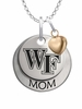 Wake Forest Demon Deacons MOM Necklace with Heart Charm