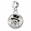 Wake Forest Round Dangle Charm