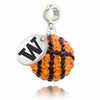 Washington Huskies Crystal Drop Charm