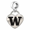 Washington Engraved Heart Dangle Charm